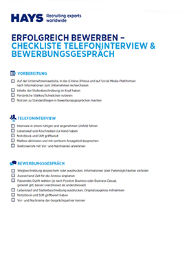 Checklist interview